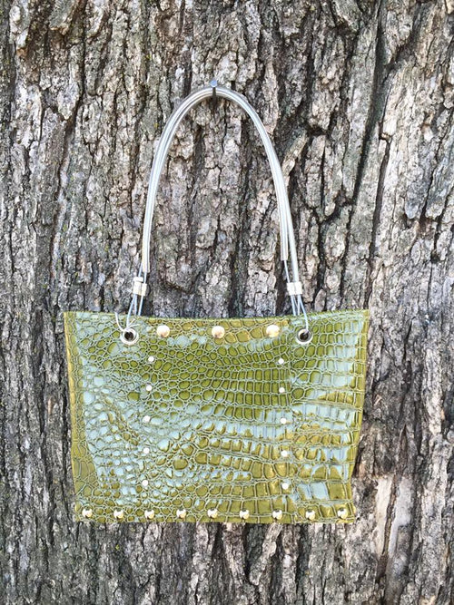 "Moss Green ""Gator"" Purse"