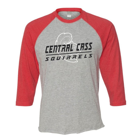 CC Wrestling Long Sleeve Tri-Blend Raglan Tee