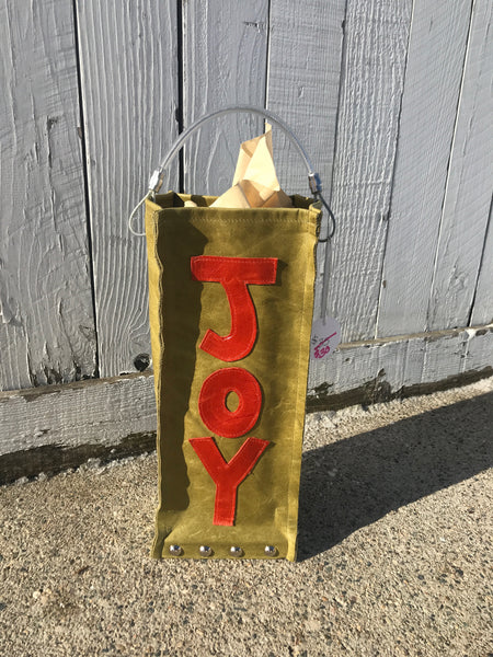 """JOY"" Wine Bag"