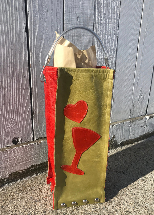 Love & Cocktails Wine Bag
