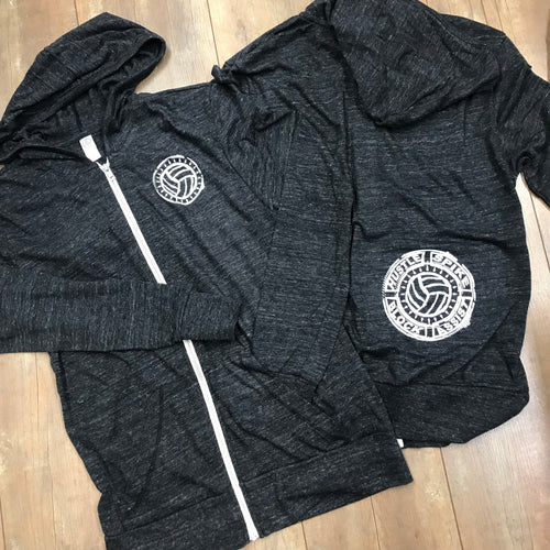 Eco-Jersey Volleyball Full-Zip Hoodie