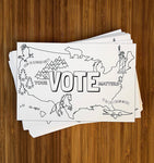 Color-Me-In Postcards for Voters (Black & White)