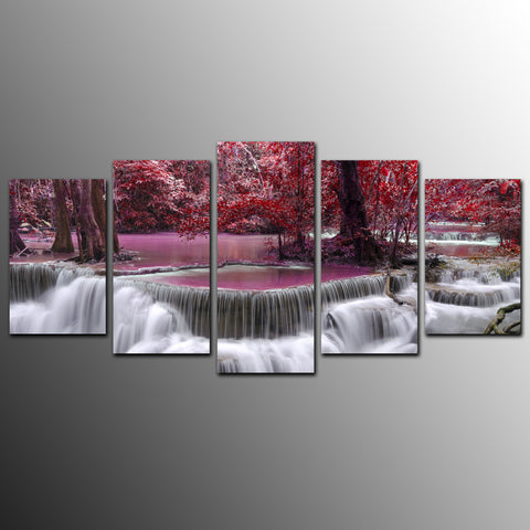 RED WATERFALL - The Wall Art Gallery