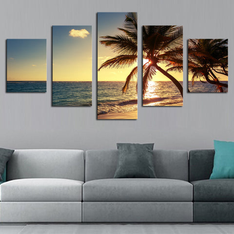 COCONUT TREE ON BEACH - The Wall Art Gallery