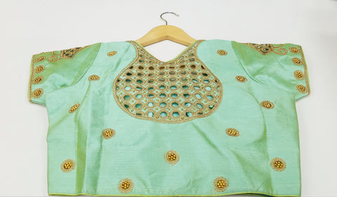 RM - Double shaded Pista Green- Banaras katan