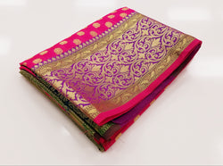 TSH100 - Pattu Rose with Purple