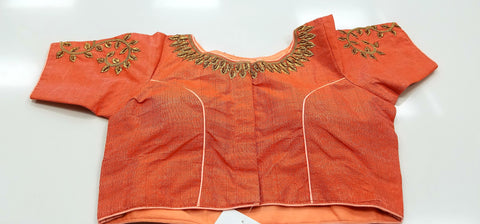 RM - Double shaded Pastel Orange - Banaras katan