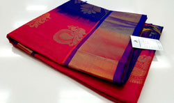 TSH100 - Double shaded Coral Pink Red with Royal Blue
