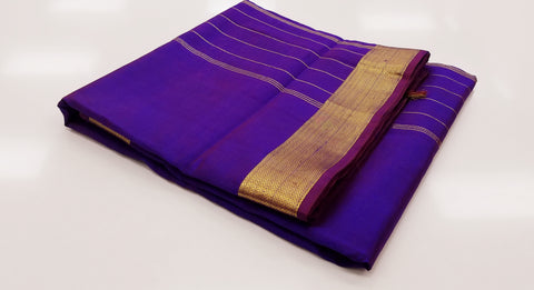 TSH100 - Double shaded Purplish Violet with Gold
