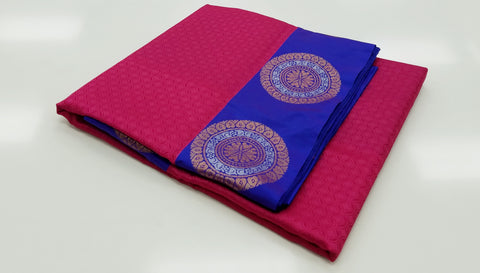 TSH100 - Pinkish Magenta with double shaded Blue