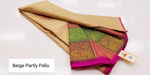 KSS - Golden Beige Partly pallu