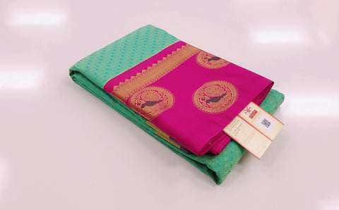 KSS - Sea Green with Pink Korvai