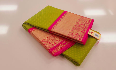 KSS - Apple Green with Pink Korvai