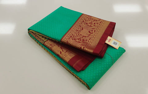 KSS - Sea Green with Maroon Korvai