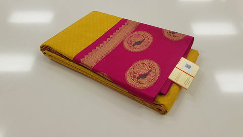 KSS - Yellow with Pink Korvai