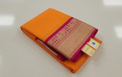 KSS - Kesar Orange with Pink Korvai