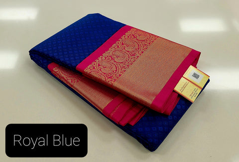 KSS - Double shaded Royal Blue with Hot Pink Korvai