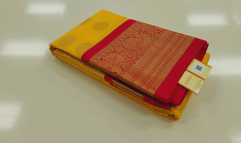 KSS - Mango Yellow with Tomato Reddish pink Korvai