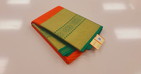 KSS - Orange with Green Korvai