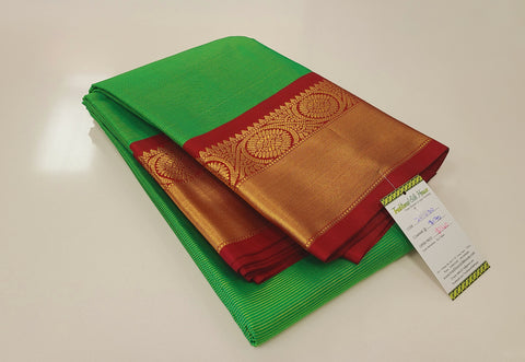 KSS - Emerald Green with Maroon Korvai