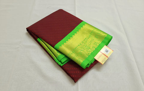 KSS - Maroon with Green Korvai