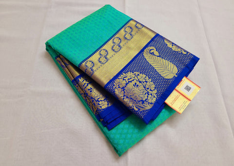 KSS - Sea Greenish Blue with Blue Korvai