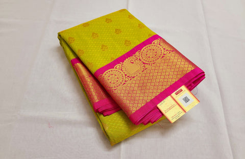 KSS - Lime green with Pink Korvai