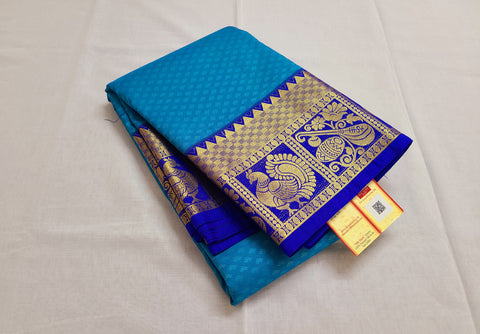 KSS - Anandha Blue with Royal Blue Korvai