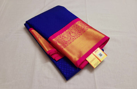 KSS - Royal Blue with Pink Korvai