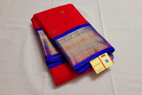 KSS - Red with Blue Korvai