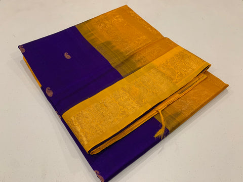 KSC - Purple with Turmeric Yellow korvai