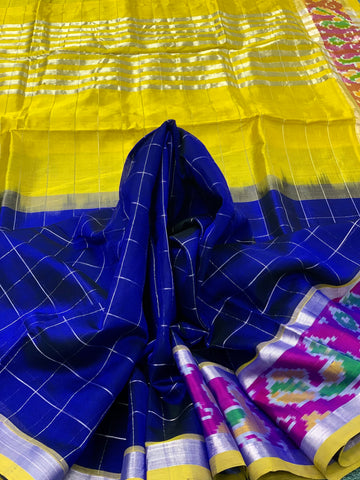 KSC -  Royal Blue with Yellow Pochampally border