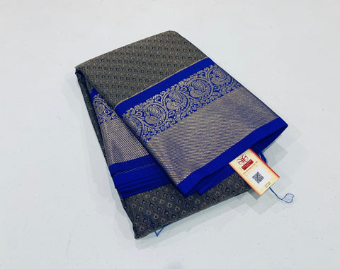 KSS - Elephant Gray with Royal Blue Korvai