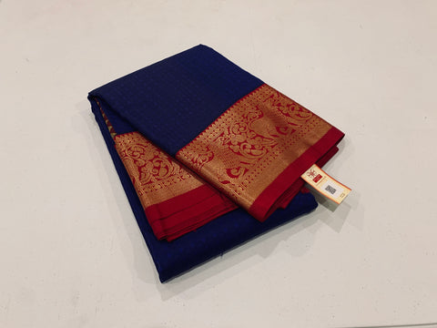 KSS - Royal Blue with Maroon Korvai