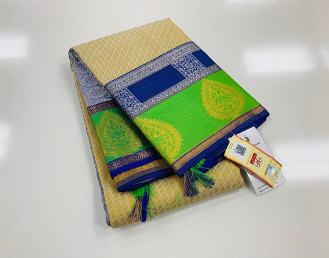 KHEE - Beige with Royal Blue