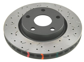 DBA 97-04 Corvette C5/C6 Rear Drilled & Slotted 4000 Series Rotor (w/ Black Hub) - 42995BLKXS