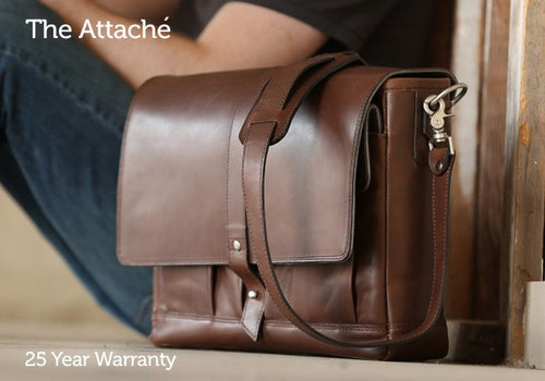 Laptop Briefcase - The Leather Attaché Bag
