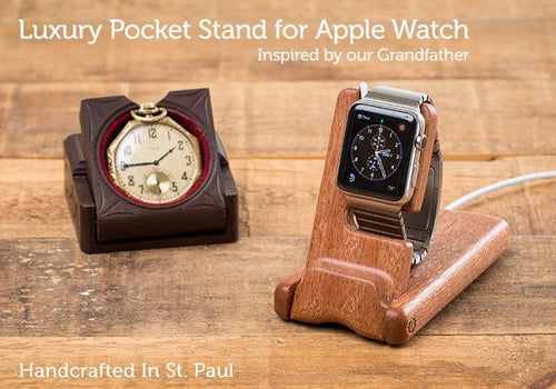 Apple Watch Accessory - Luxury Pocket Stand For Apple Watch Series 1 & Series 2