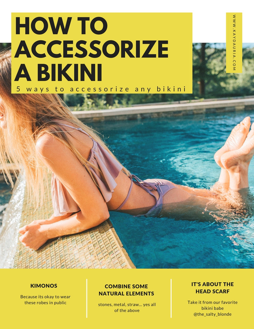 How to Accessorize a Bikini