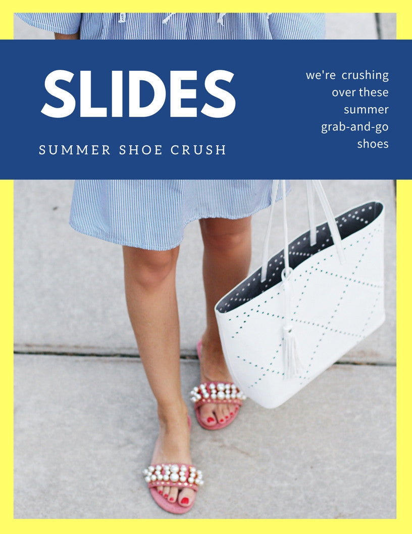 alides the shoes of the summer