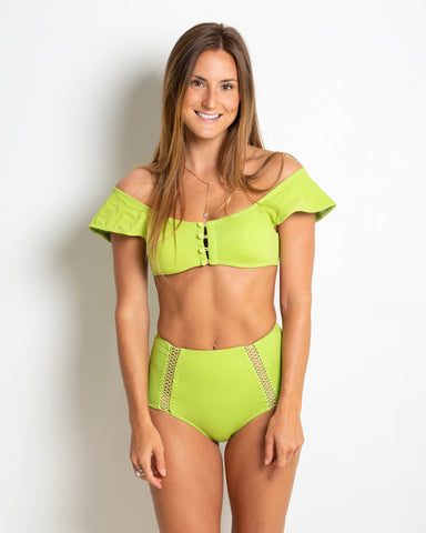 Blouse Top | Lime