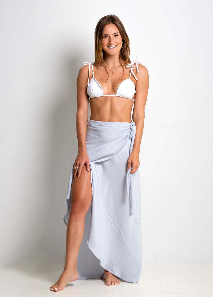 That's A Wrap Maxi Skirt | Ocean Gray