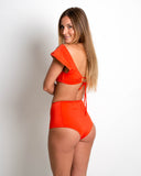 Crochet High-Waisted Bottoms | Coral