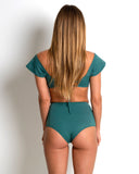 Crochet High-Waisted Bottoms | Teal