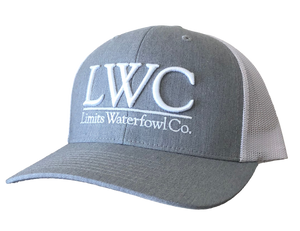 3D LWC Logo Hat(Multiple Color Options)-hat-Limits Waterfowl Co.-Gray/White-Limits Waterfowl Co.