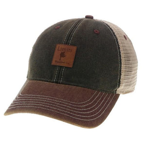 Black/Burgundy Trucker-hat-Limits Waterfowl Co.-Limits Waterfowl Co.