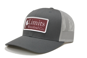 Charcoal and Gray Logo Patch-hat-Limits Waterfowl Co.-Limits Waterfowl Co.