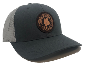 Dark Leather Trucker-Gray/Charcoal-hat-Limits Waterfowl Co.-Limits Waterfowl Co.