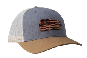Flag Trucker Hat-Gray/Gold/Birch-hat-Limits Waterfowl Co.-Limits Waterfowl Co.