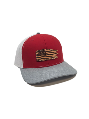 Flag Trucker Hat-Red/Heather/White-hat-Limits Waterfowl Co.-RED/WHITE/HEATHER-Limits Waterfowl Co.